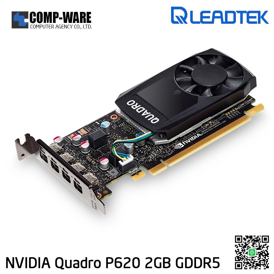Leadtek Nvidia Quadro P620 Workstation Graphics Card (ต่อออก 4 จอได้)