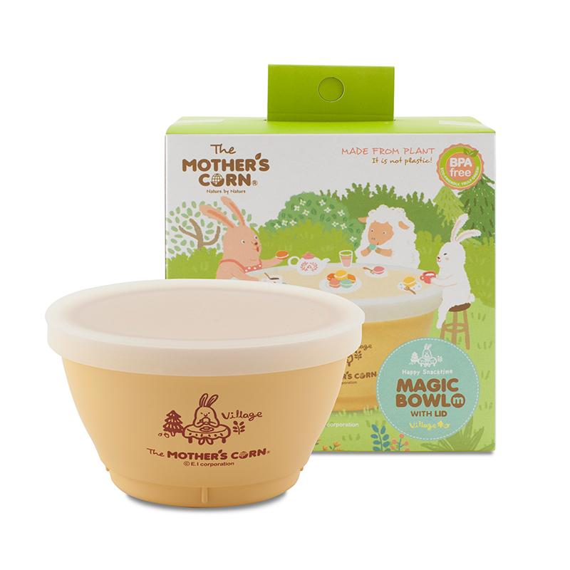 Mother's Corn Magic Bowl M With Lid ถ้วยใส่อาหารพร้อมฝาปิดซิลิโคน