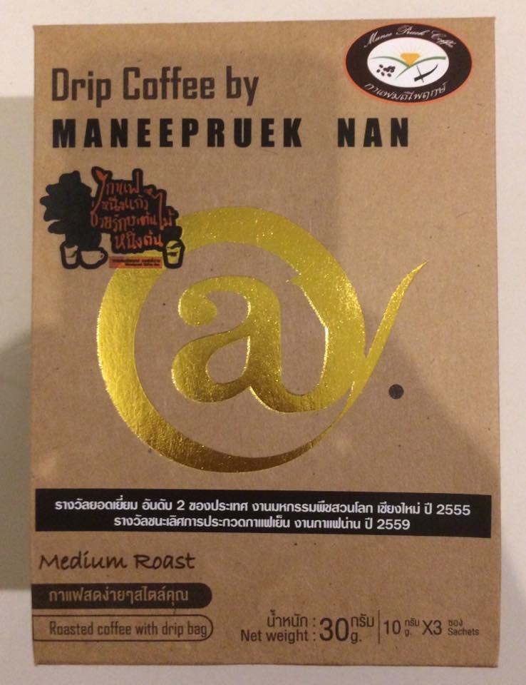 กาแฟดริป คัวเข้ม มณีพฤษ น่าน 3 x 8 g. @y Drip Coffee MANEEPRUEK NAN Dark Rost