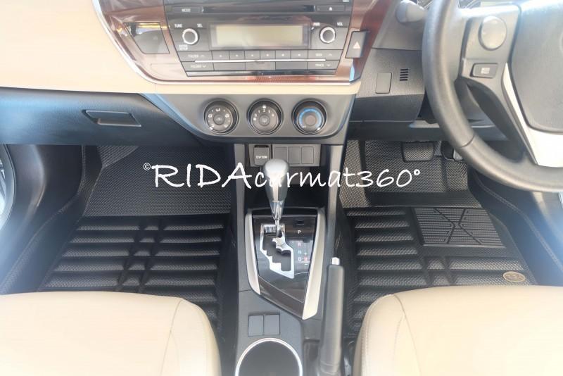 พรมปูพื้นรถยนต์ NEW ALTIS 2014-18 สีดำ BY RIDA CAMAT 360