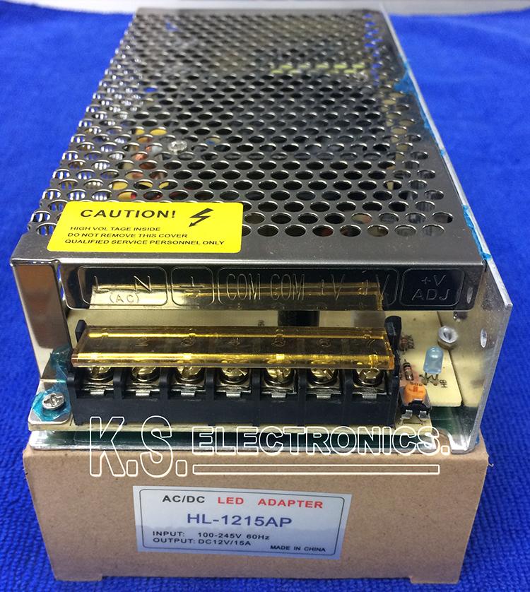 แหล่งจ่ายไฟสวิตชิ่ง Output 12V 15A