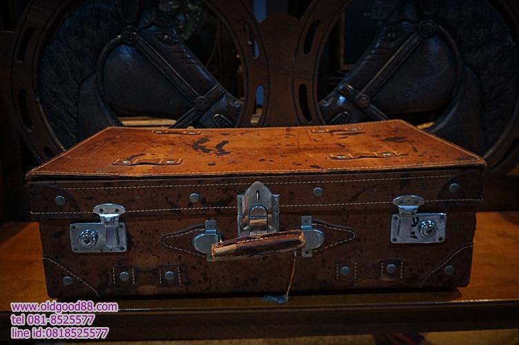 กระเป๋าหนังเดินทาง เก่าเก็บ รหัส9860jb