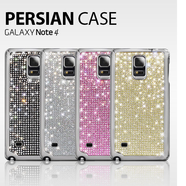 Dreamplus : Persian Polycarbonate Crystal Cubic Hard Case Cover For Galaxy Note 4