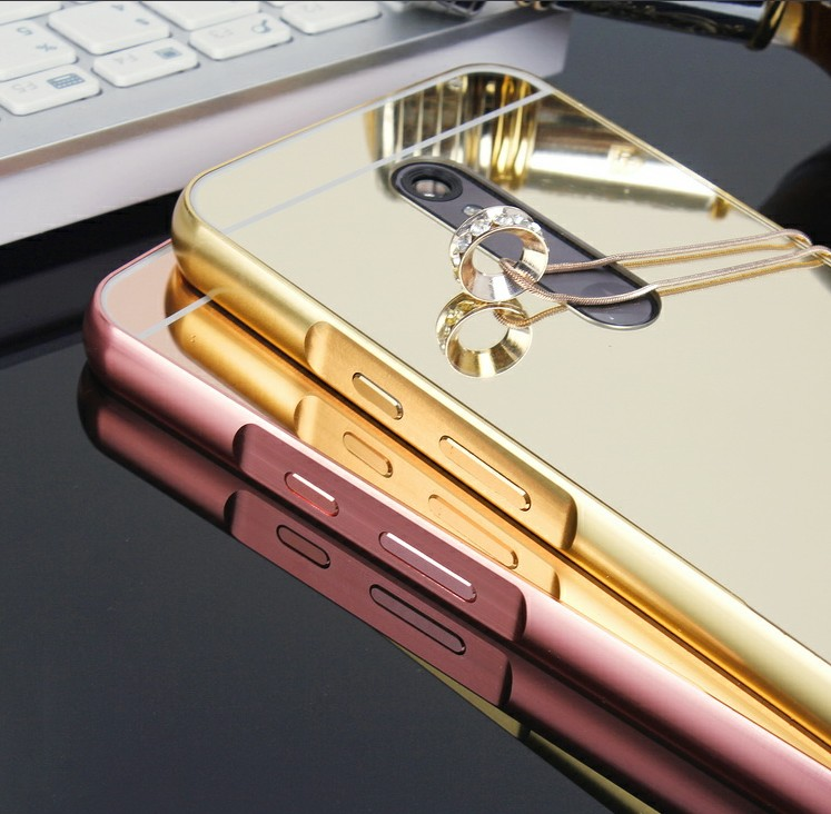 (679-002)เคสมือถือ Motorola MOTO X Style เคสกรอบโลหะพื้นหลังอะคริลิคแววคล้ายกระจก