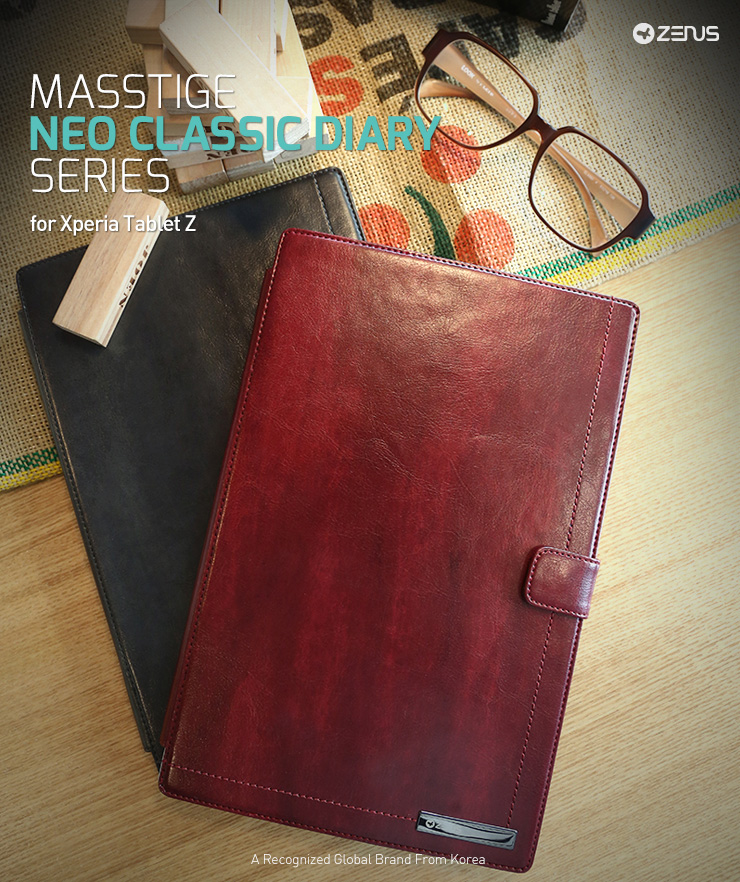 Zenus : Masstige Neo Classic Diary Case Cover For Xperia Tablet Z