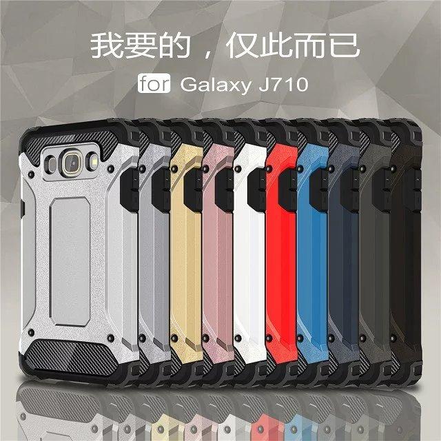 (504-003)เคสมือถือซัมซุง Case Samsung Galaxy J7(2016) เคสยางพื้นหลังเกราะกันกระแทกพลาสติกสไตล์เทห์ๆ