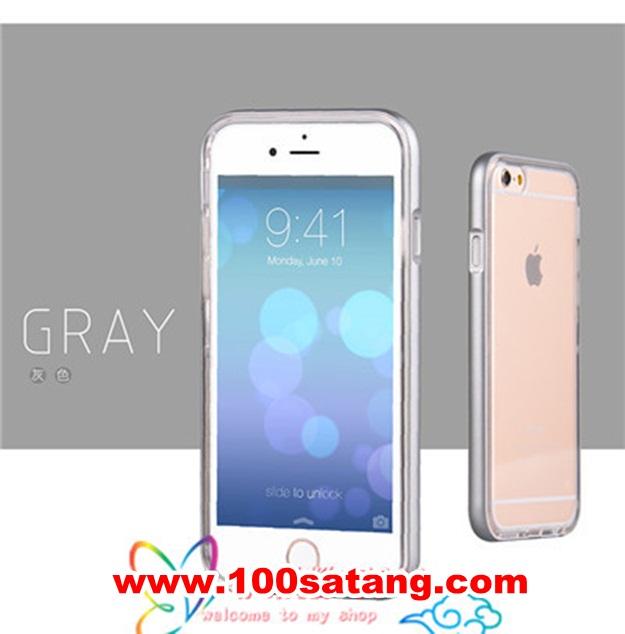 (พร้อมส่ง)เคสมือถือไอโฟน Case iPhone 6 เคสนิ่มขอบสี Lighting Flash