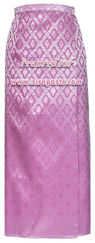 """ผ้าถุงป้ายข้างฯ สีชมพู-เงิน (เอวใส่ได้ถึง 32"""") *ตรวจสอบรายละเอียดสินค้าในหน้าฯ"""
