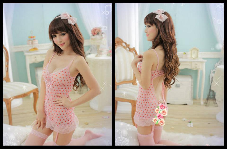 ชุดนอน Sexy087 (เซ็กซี่087) สีชมพู