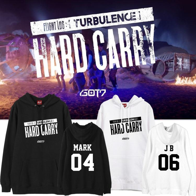 Hoodie GOT7 Hard Carry MEMBER -ระบุสี/ไซต์/สมาชิก-