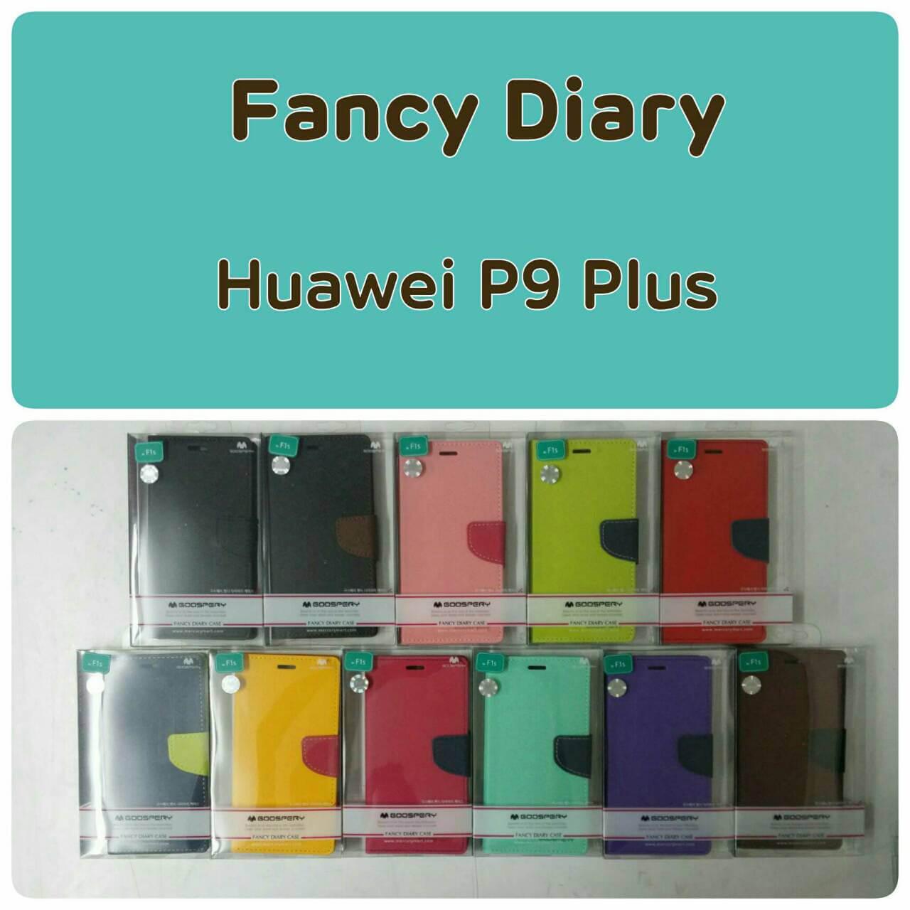 Huawei P9 Plus - เคสฝาพับ Mercury Goospery Fancy Leather Case cover แท้
