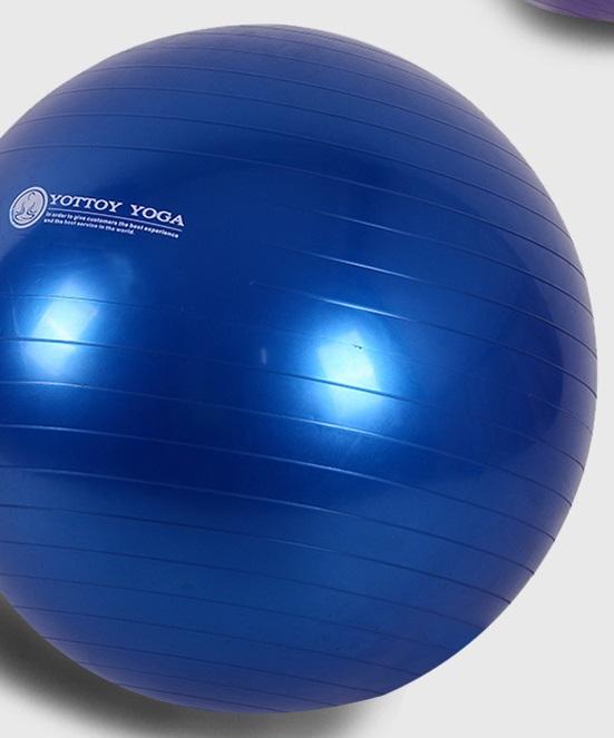 หุ่นเฟิร์ม เป็นคนใหม่ด้วยลูกบอลโยคะ yottoy ขนาด 55cm สีน้ำเงิน