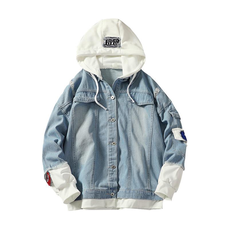 *Pre Order*แฟชั่นชาย,หญิง Men's Jacket Sportswear ผ้ายีนส์ size 3XL-4XL-5XL