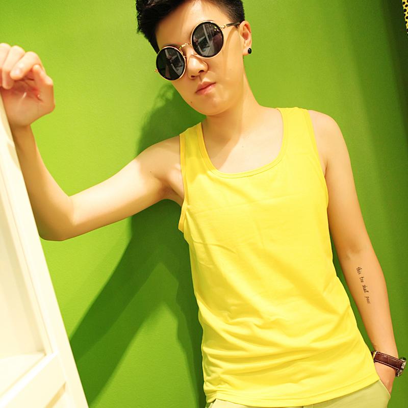 เสื้อกล้ามทอมเต็มตัว ยี่ห้อ Janest สีเหลือง รุ่นตะขอ(พรีออเดอร์)