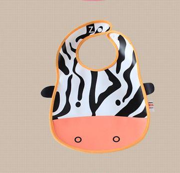 ผ้ากันเปื้อนเด็กพิมพ์ลายการ์ตูนน่ารัก รูปม้าลาย