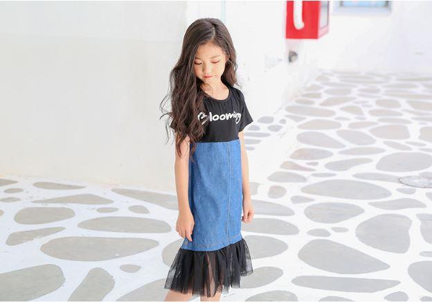 ชุดเดรสเด็กผู้หญิง ไซส์ 130