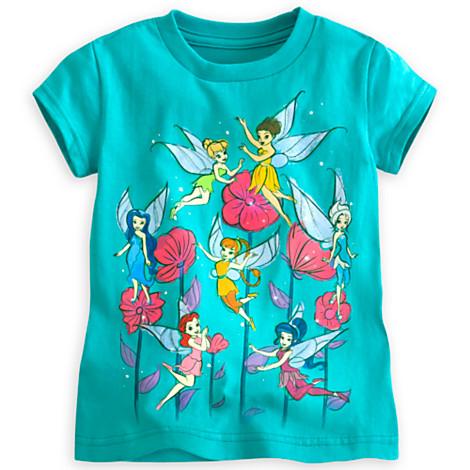 zDisney Fairies tee for girls(size 5/6)(พร้อมส่ง)