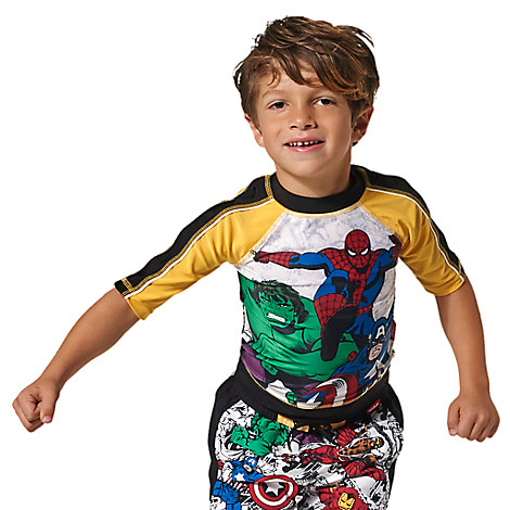 Marvel's Avengers Rash Guard for Boys from Disney USA ของแท้100% นำเข้า จากอเมริกา