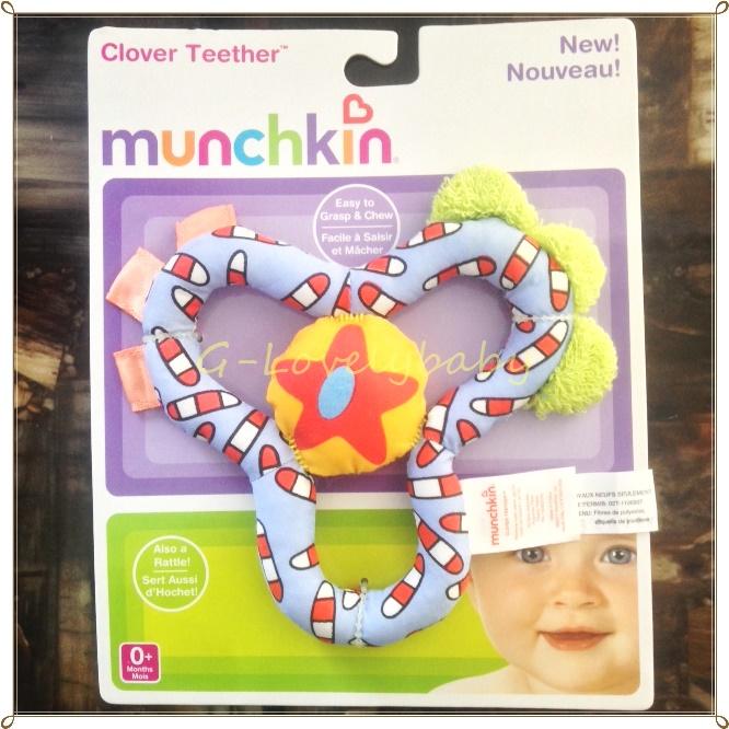 ของเล่นเด็กทารก Munchkin Baby's Toy Clover Teether ของเล่นกล่อมลูกนอน พร้อมส่ง