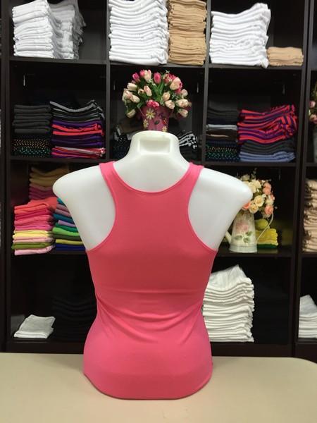เสื้อกล้ามหลังสปอร์ต สีชมพูโอรส