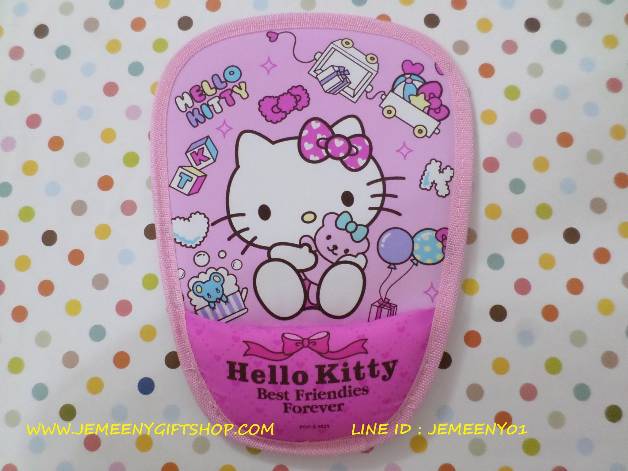 แผ่นรองเม้าส์และข้อมือ ฮัลโหลคิตตี้ Hello Kitty ลายคิตตี้โบว์ชมพู สีชมพู