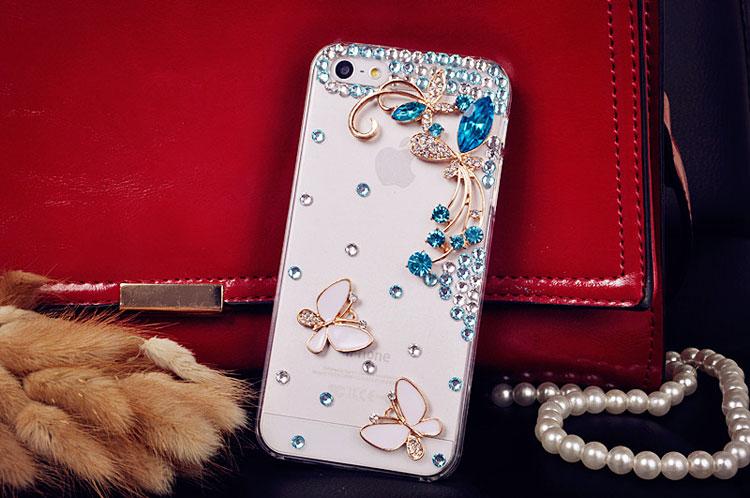 เคสไอโฟน 5C เคส DIY ผีเสื้อประดับเพชรคริสตัล งานหรู iPhone5C Case