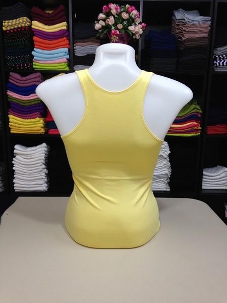 เสื้อกล้ามหลังสปอร์ต สีเหลืองอ่อน
