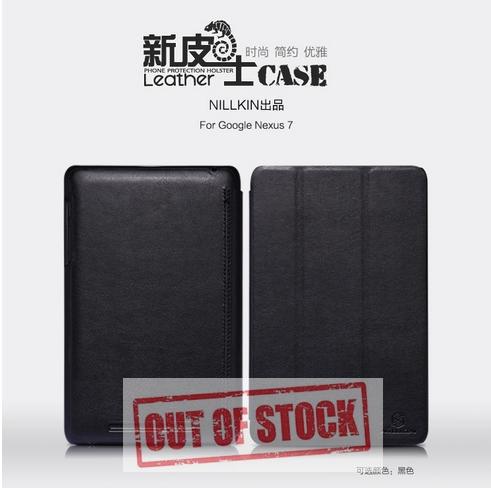 เคส Asus Google Nexus7 2012 Nillkin Leather case Ultra-slim leather case for Google Nexus 7 with free screen protector Auto sleep/wake