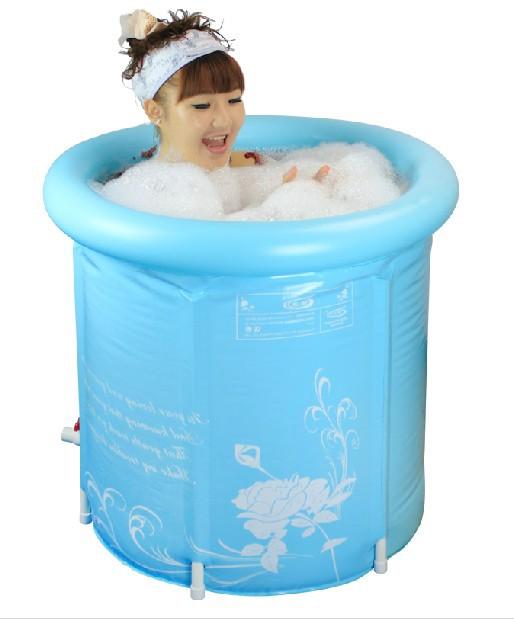 ถังอาบน้ำ PVC ทรงกลม สำหรับห้องน้ำขนาดเล็ก