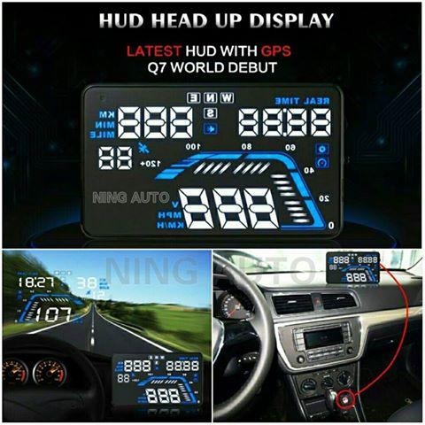 &#x1F31Fเกจวัดอัจฉริยะเเสดงผลสะท้อนกระจกหน้ารถรถยนต์ Head-Up Display Q7 5.5
