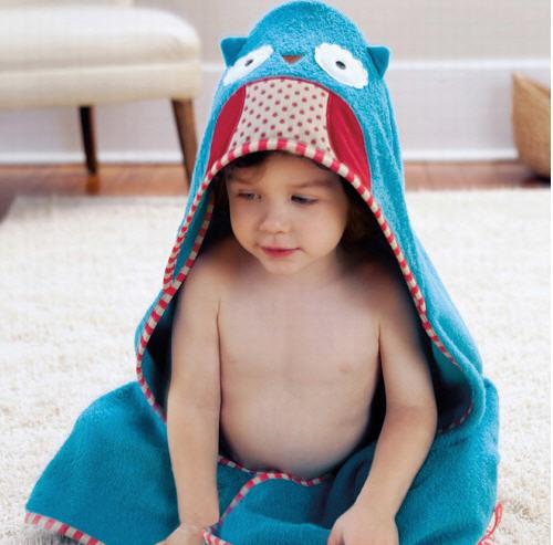 Skip Hop ผ้าเช็ดตัว ผ้าขนหนู ลายสัตว์น่ารัก ลายนกฮูก