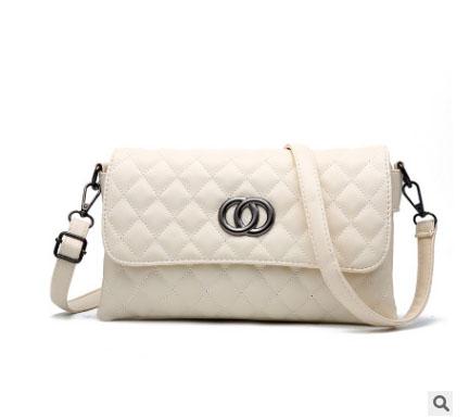 พร้อมส่ง กระเป๋าผู้หญิงใบเล็กสะพายไหล่และสะพายข้าง แฟชั่นสไตล์เกาหลี KO-5625 สีครีม 2 ใบ