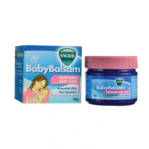 (ยกโหล ราคาส่ง) Vicks Baby Balsam 50 กรัม ผลิตภัณฑ์นวดผิวกาย เพื่อให้ลูกน้อยสบายสดชื่น