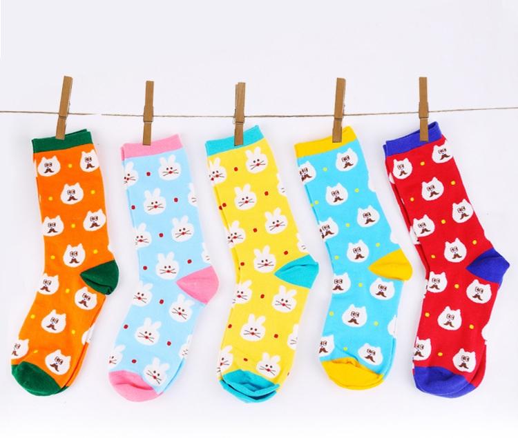 S371**พร้อมส่ง** (ปลีก+ส่ง) ถุงเท้าแฟชั่นเกาหลี ข้อยาว เนื้อดี งานนำเข้า(Made in china)