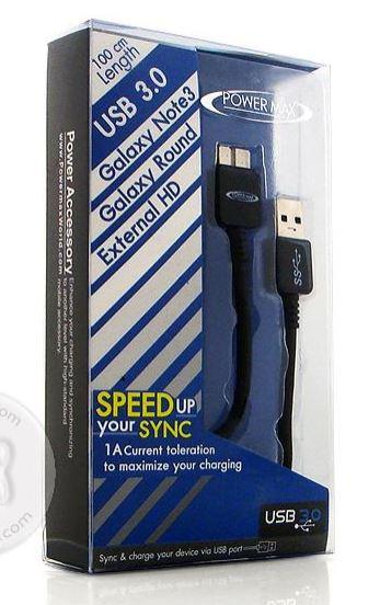 สายเชื่อมต่อข้อมูล Powermax USB 3.0 Cable รุ่น U-19 สีดำ