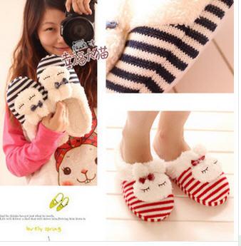 [SLSH5352] รองเท้าใส่ในบ้าน ลายกระต่ายน้อย พื้นรองเท้าหนาหนุ่น สินค้างานคุณภาพ (จำนวนจำกัด)