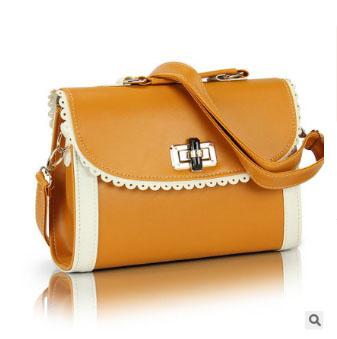 พร้อมส่ง กระเป๋าผู้หญิงถือสะพายไหล่และสะพายข้าง แฟชั่นสไตล์เกาหลี sunny-322 สีเหลืองเข้ม 1 ใบ