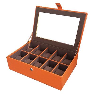 กล่องใส่นาฬิกา งานหนังบุดด้วยผ้ากำมะหยี่เนื้อนุ่ม งานเกรดพรีเมี่ยม ระดับห้าง (พร้อมส่ง)