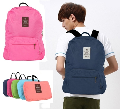 กระเป๋าเป้แฟชั่น ใส่เสื้อผ้า ของใช้ต่างๆ เดินทางท่องเที่ยว สามารถพับเก็บได้