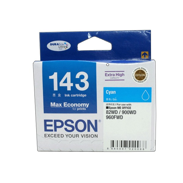 Epson T143290 หมึกพิมพ์อิงค์เจ็ต สีฟ้า Cyan Original Ink Cartridge