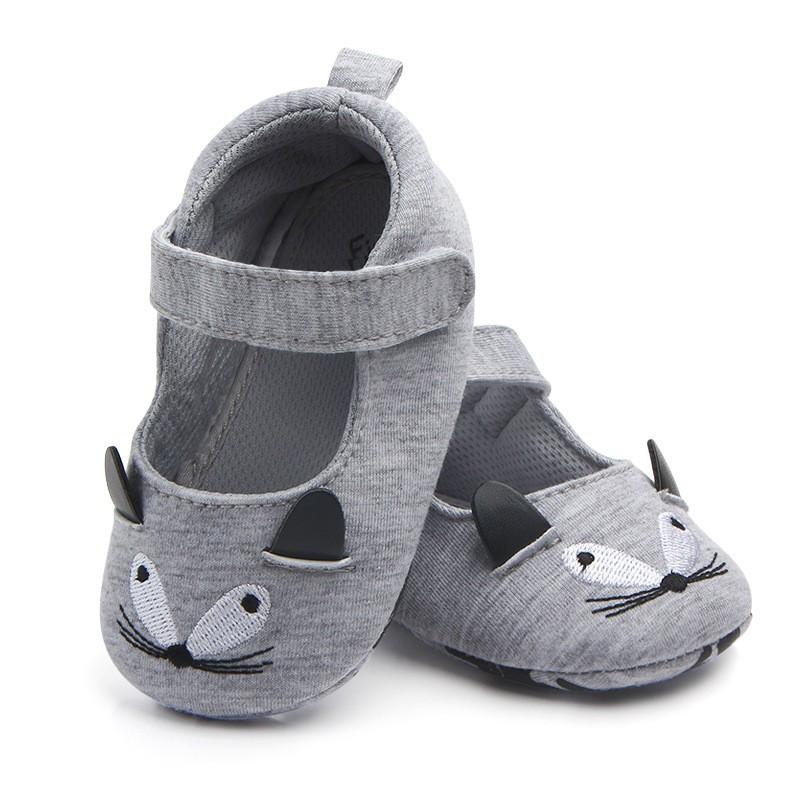 รองเท้าเด็กอ่อน 0-12เดือน รองเท้าเด็กชาย เด็กหญิง ลายหนูเทา