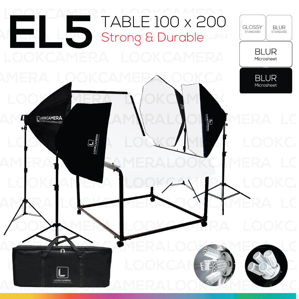 EL5 STUDIO TABLE MOVABLE PACKSHOT โต๊ะถ่ายภาพสินค้าปรับองศาเคลื่อนที่ได้ 100x200 ซม.