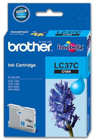 Brother LC-37C ตลับหมึกอิงค์เจ็ท สีฟ้า Cyan Original Ink Cartridge
