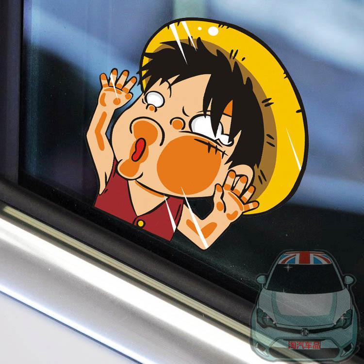 สติ๊กเกอร์ติดรถยนต์ One Piece 11x11 CM