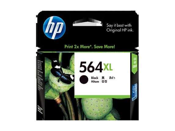 HP 564XL ตลับหมึกอิงค์เจ็ท สีดำ High Yield Black Original Ink Cartridge (CN684WA)