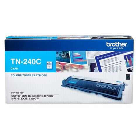Brother TN-240C ตลับหมึกโทนเนอร์ สีฟ้า Cyan Original LaserJet Toner Cartridge