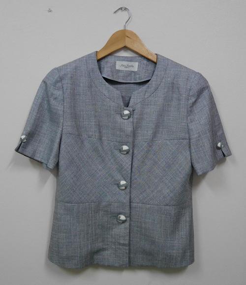 Jp5104 เสื้อทำงาน สีเทา ไม่มีซับใน รอบอก 38-40 นิ้ว