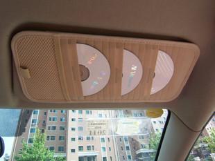 อุปกรณ์ตกแต่งรถยนต์ ที่ใส่แผ่น cd ใต้ที่บังแดดหน้ารถ สีน้ำตาล