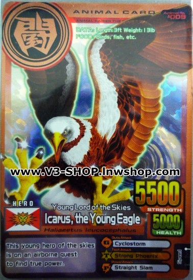 ANIMALKAISER Icarus the Young Eagle BRONZE RARE