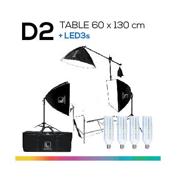 D2 TABLE 60x130 โต๊ะถ่ายภาพสินค้าปรับองศาได้ ถอดประกอบได้